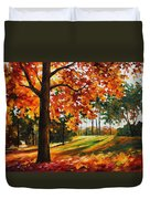 Freedom Of Autumn - Palette Knife Oil Painting On Canvas By Leonid Afremov Duvet Cover