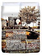 Freedom Of Speech On Wheels Duvet Cover by Desiree Paquette