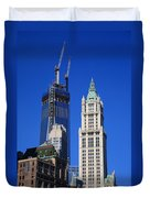 Freedom Tower And Woolworth Building Duvet Cover