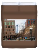 Freedom Tower From Washington Square Duvet Cover