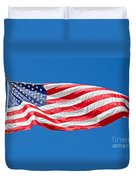 Freedom American Flag Art Prints Duvet Cover