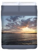Freeport Cloudy Summertime Sunset Duvet Cover