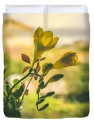 Freesia Duvet Cover by Marco Oliveira