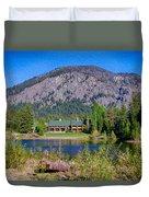 Freestone Inn Lakeside View Duvet Cover