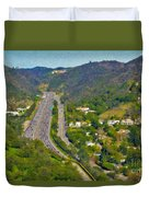 Freeway Sepulveda Pass Traffic Bel Air Crest California Duvet Cover
