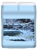 Freezing Dam Duvet Cover