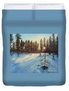 Freezing Forest Duvet Cover