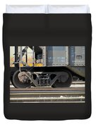 Freight Train Wheels 1 Duvet Cover
