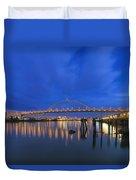 Fremont Bridge Blues Duvet Cover