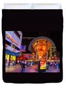 Fremont Street Lights 2 Duvet Cover