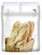 French Baguette In Basket Duvet Cover