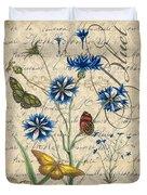 French Botanical Damask-b Duvet Cover