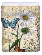French Botanical Damask-d Duvet Cover