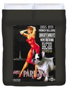 French Bulldog Art - Una Parigina Movie Poster Duvet Cover