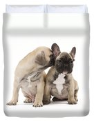 French Bulldog Puppies Duvet Cover