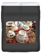 French Cafe Bowls Duvet Cover