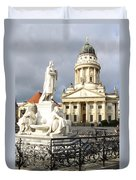 French Cathedral And Statue Gendarmenmarkt Germany Duvet Cover
