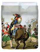 French Cuirassiers At The Battle Duvet Cover