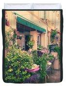 French Floral Shop Duvet Cover