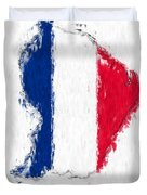 French Guiana Painted Flag Map Duvet Cover