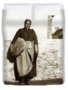 French Lady With A Very Large Bread France 1900 Duvet Cover