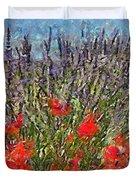 French Lavender Field Duvet Cover