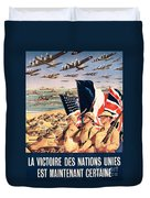 French Propaganda Poster Published In Algeria From World War II 1943 Duvet Cover