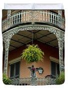 French Quarter Balcony Duvet Cover