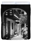 French Quarter Courtyard Duvet Cover