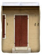 French Quarter Door - 34 Duvet Cover