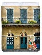 French Quarter Family Fun Duvet Cover