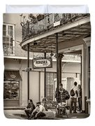 French Quarter - Hangin' Out Sepia Duvet Cover
