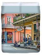 French Quarter - Hangin' Out Duvet Cover