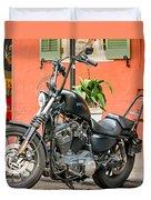 French Quarter Harley Duvet Cover