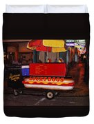 French Quarter Late At Night Duvet Cover