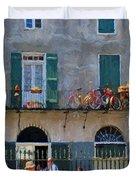 French Quarter Stroll 2 - New Orleans Duvet Cover