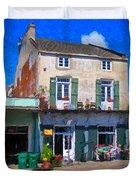 French Quarter Stroll New Orleans Duvet Cover