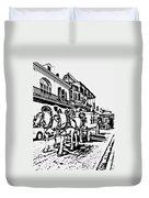 French Quarter - The Final Ride Duvet Cover