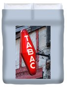 French Tobacconist Sign Duvet Cover
