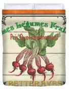French Vegetable Sign 4 Duvet Cover by Debbie DeWitt