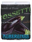French Veggie Labels 4 Duvet Cover