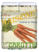 French Veggie Sign 2 Duvet Cover