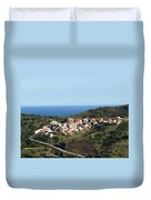 French Village By The Sea Duvet Cover