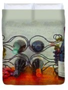French Wine Rack Duvet Cover