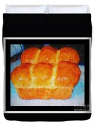 Fresh Baked Bread Three Bun Loaf Duvet Cover