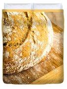 Fresh Baked Loaf Of Artisan Bread Duvet Cover
