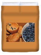 Fresh Blueberries And Muffins Duvet Cover