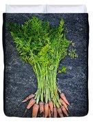 Fresh Carrots From Garden Duvet Cover by Elena Elisseeva