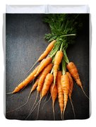 Fresh Carrots Duvet Cover