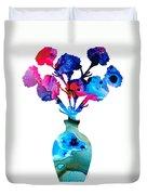 Fresh Cut - Vibrant Flowers Floral Painting Duvet Cover